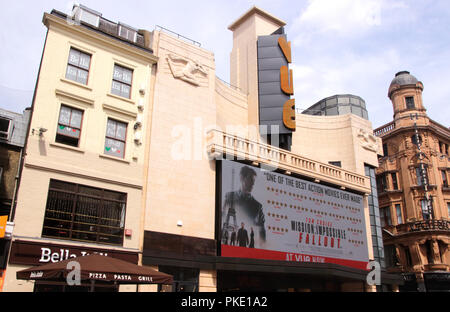 Vue Cinema Leicester Square London August 2018 - Stock Image