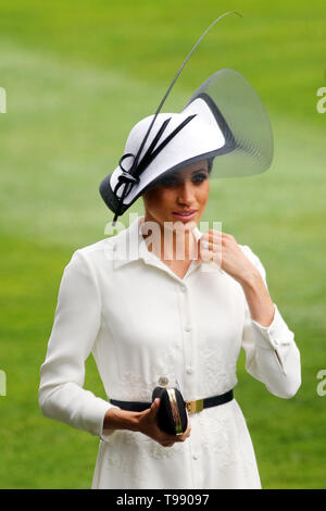 19.06.2018, Ascot, Windsor, UK - Meghan, Duchess of Sussex. 00S180619D805CAROEX.JPG [MODEL RELEASE: NO, PROPERTY RELEASE: NO (c) caro images / Sorge,  - Stock Image