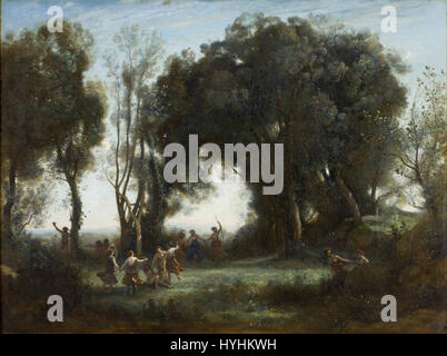 Camille Corot   A Morning. The Dance of the Nymphs   Google Art Project - Stock Image
