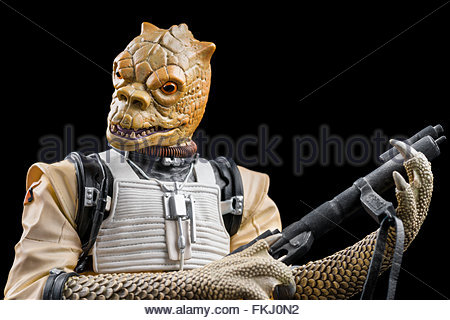 Star Wars bounty hunter Bossk (limited edition bust by Gentle Giant Studios) - Stock Image