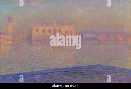 The Palazzo Ducale Seen from San Giorgio Maggiore, Claude Monet, 1908, - Stock Image