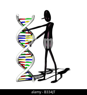 man with DNA - Stock Image