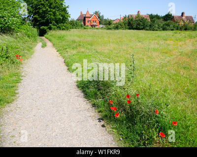 The Ridgeway National Trail, Leading Towards South Stoke Village, Oxfordshire, England, UK, GB. - Stock Image