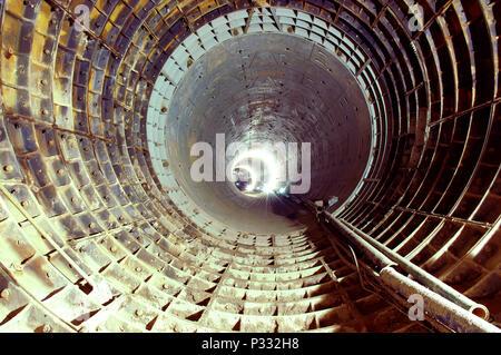 Metro tunnel construction. - Stock Image