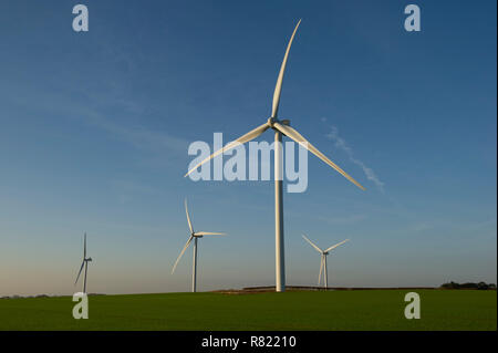 Wind Turbines at Fraisthorpe Wind Farm on the East Yorkshire Coast - Stock Image