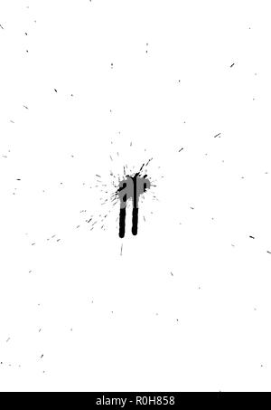 Abstract grunge blobs background. Black on white. Vector illustration. - Stock Image