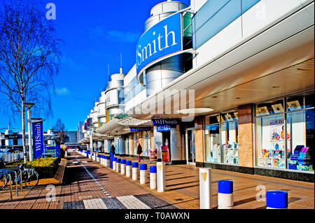 York, Monks Cross Retail Centre, WH Smiths England - Stock Image