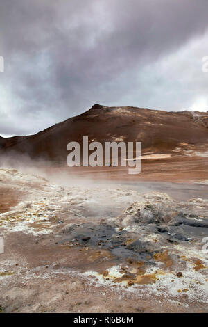 Námafjall, Berg, Vulkan, Island - Stock Image