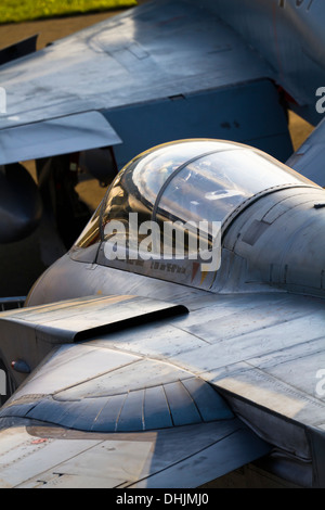 Tornado jet aircraft cockpit canopy view from rear - Stock Image