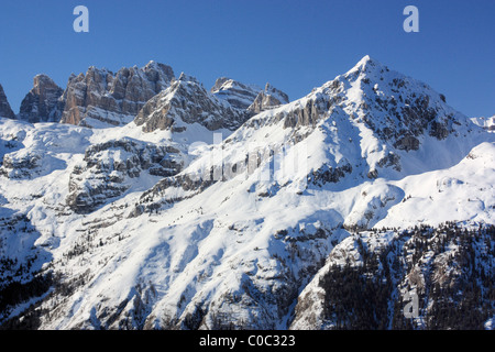 Brenta dolomites view from Paganella, Trentino, Italy - Stock Image