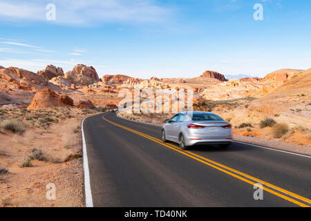 Valley of Fire State Park, Nevada, United States of America, North America - Stock Image