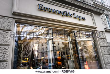 Ermenegildo Zegna store - Stock Image