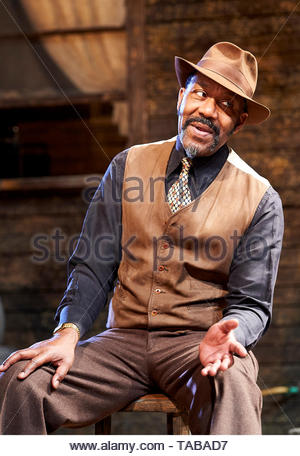 King Hedley II by August Wilson, directed by Nadia Fall.With Lenny Henry as Elmore. Opens at Stratford East Theatre on 23/5/19 pic Geraint Lewis EDITORIAL USE ONLY - Stock Image