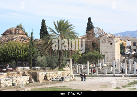 The Roman Agora in Athens, Greece - Stock Image