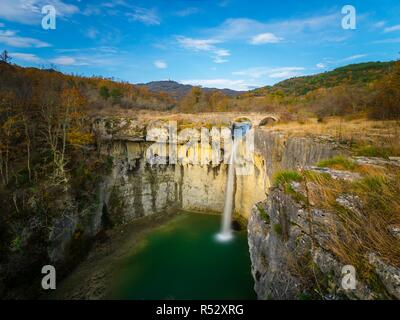 Slap Sopot waterfall natural landmark near Pican in Istria Croatia long exposure - Stock Image