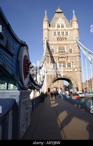 On the Tower Bridge London - Stock Image