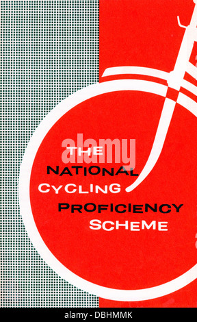 The National Cycling Proficiency Scheme leaflet 1950s 1960s by  RoSPA Royal Society for the Prevention of Accidents - Stock Image