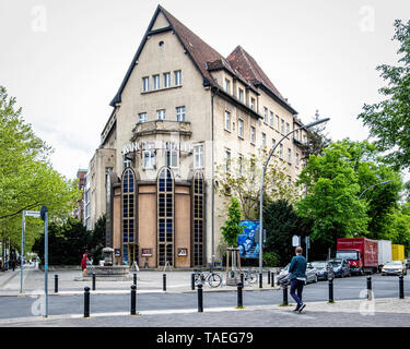 Renaissance Theatre building exterior, old art deco theater & Playhouse in Knesebeckstraße, Charlottenburg, Berlin. - Stock Image