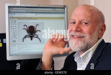 New Haven CT USA- Dr. Eugene Shapiro, professor of Pediatrics, Epidemiology and Investigative Medicine at Yale is - Stock Image