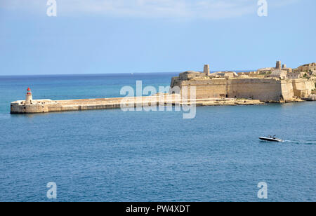 Fort Ricasoli and Ricasoli point in the Three Cities area of Malta - Stock Image