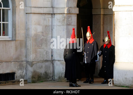 Changing of the Horse guard, at Horse Guard's Palace , London, United Kingdom. - Stock Image