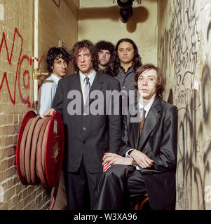 The Sadies Band photographed backstage at the Borderline , 27th March 2003, London, England, United Kingdom. - Stock Image