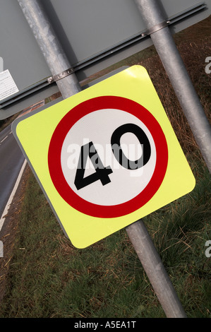 40 Speed sign - Stock Image