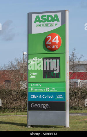 Death of the High Street metaphor / concept - Exterior of the ASDA Bodmin 24-hour store, Cornwall. - Stock Image