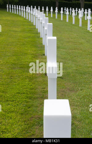 Wargraves at American Cemetery, Maddingley, Cambridge - Stock Image
