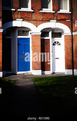 Front Doors at End of Path - London UK - Stock Image