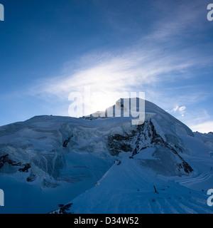 Allalinhorn mountain peak, view from Mittelallalin, Saas Fee, Valais, Switzerland - Stock Image