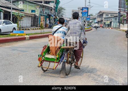 Street scene in Sagaing Myanmar (Burma) - Stock Image