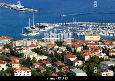 Cityscape from Marjan Hill, Split, Dalmatia, Croatia - Stock Image