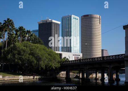 Close up of Tampa CBD buildings, Florida, USA - Stock Image