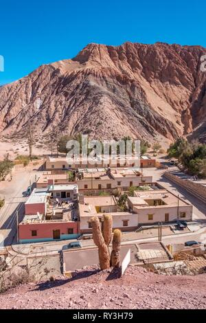 Argentina, Jujuy province, Quebrada de Humahuaca listed as World Heritage of UNESCO, Pumamarca village - Stock Image
