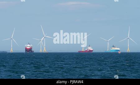 Aberdeen Offshore Wind Farm - Stock Image