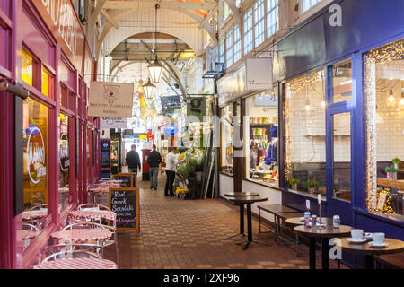 The interior of the Victorian Oxford Covered Market in Oxford town Centre - Stock Image