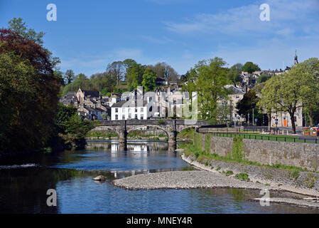 Miller Bridge and the River Kent. Kendal, Cumbria, England, United Kingdom, Europe. - Stock Image