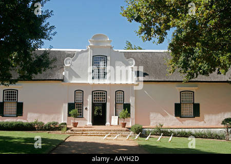 south africa Boschendahl winery founded by hugenots geese - Stock Image