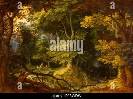Forest View, Jan Brueghel, 1605, Zurich Kunsthaus, Zurich, Switzerland, Europe - Stock Image
