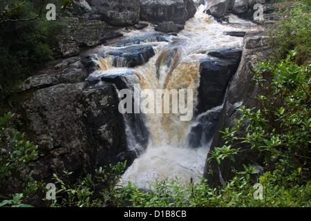 Chute Andriamamovoka (Waterfall), Namorona River, Ranomafana National Park, Madagascar, Africa. - Stock Image