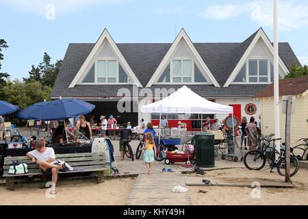 Annual Pine Walk Fair, Fair Harbor, Fire Island, NY, USA - Stock Image