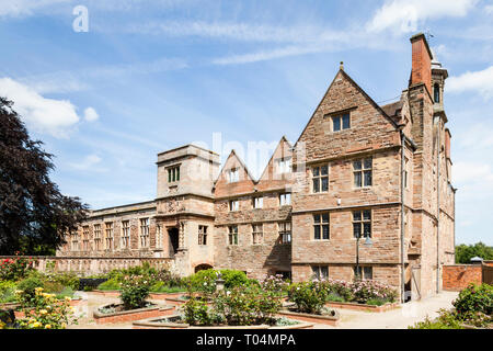 Rufford Abbey, a 12th century Cistercian abbey at Rufford Abbey Country Park, Nottinghamshire, England, UK - Stock Image
