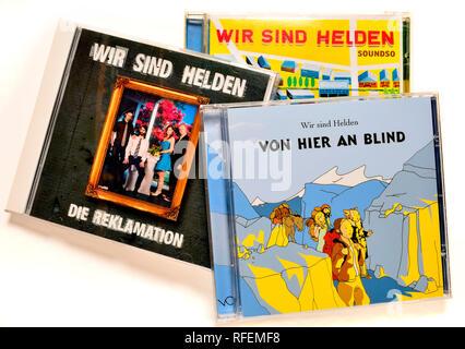 Wir Sind Helden albums on CD - Stock Image