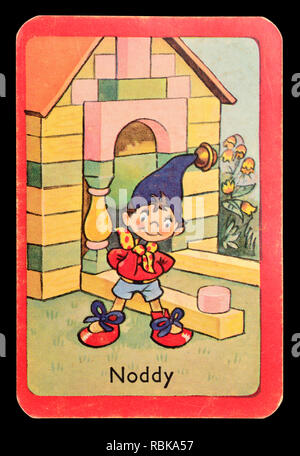 Card from a Noddy snap card game (1955)  - Noddy - Stock Image