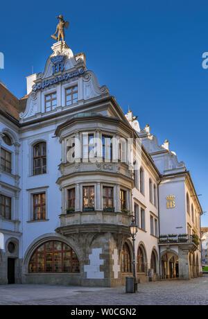 Hofbraeuhaus beer hall in Munich, Bavaria, Germany - Stock Image