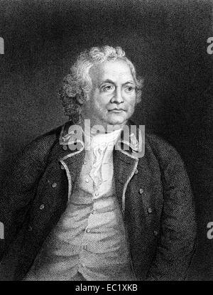 Israel Putnam (1718-1790) on engraving from 1834. American army general officer and Freemason. - Stock Image
