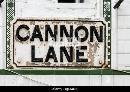 Cannon Lane - Stock Image