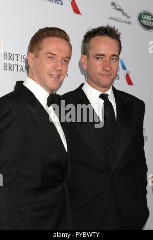 Beverly Hills, USA. 26th Oct, 2018. Damian Lewis, Matthew Macfadyen at arrivals for 2018 British Academy Britannia Awards, The Beverly Hilton, Beverly Hills, CA October 26, 2018. Credit: Priscilla Grant/Everett Collection/Alamy Live News - Stock Image