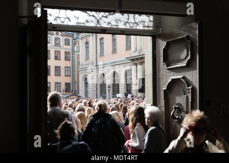 Stockholm, Sweden, 19th April, 2018. Crisis in the Swedish Academy.  Manifestation calling on the entire Swedish Academy to resign. - Stock Image